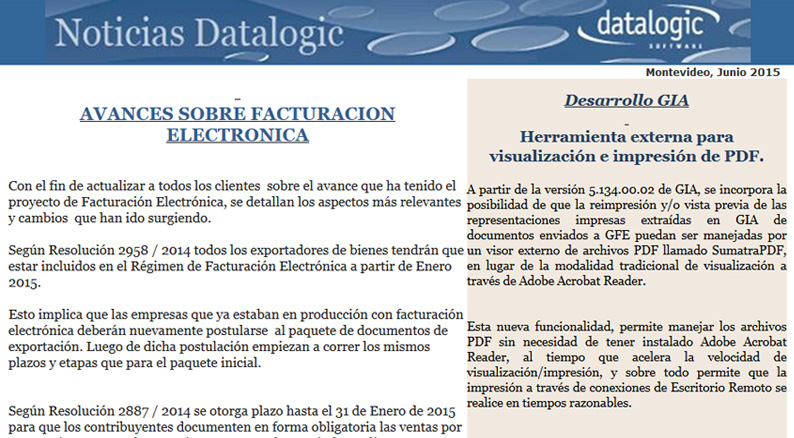Avances sobre Facturación Electrónica